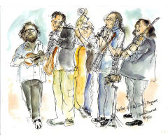 Bob Hay and the Jolly Beggars drawing